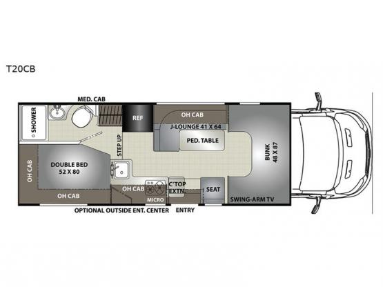 Orion T20CB Floorplan Image