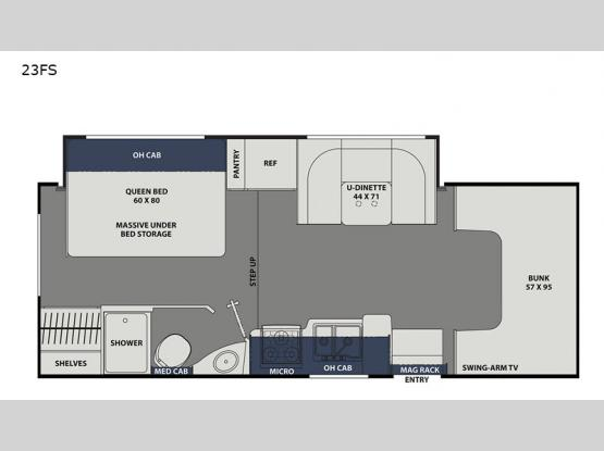 Freelander 23FS Chevy 4500 Floorplan Image