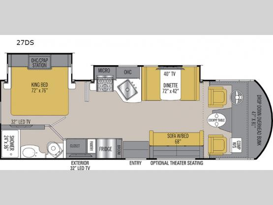 Pursuit Precision 27DS Floorplan Image