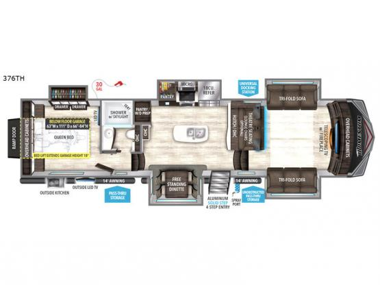 Momentum 376TH Floorplan Image