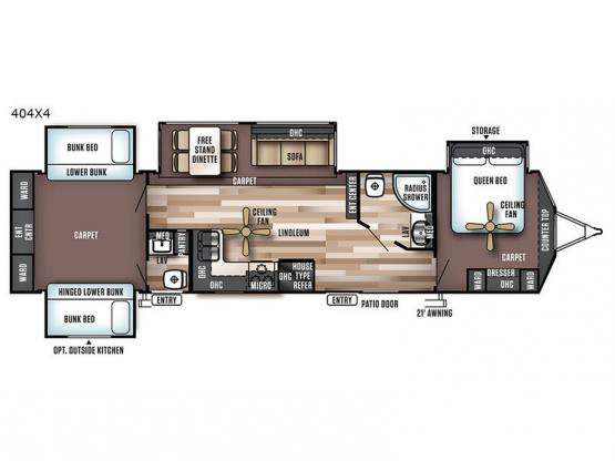 Wildwood Lodge 404X4 Floorplan Image