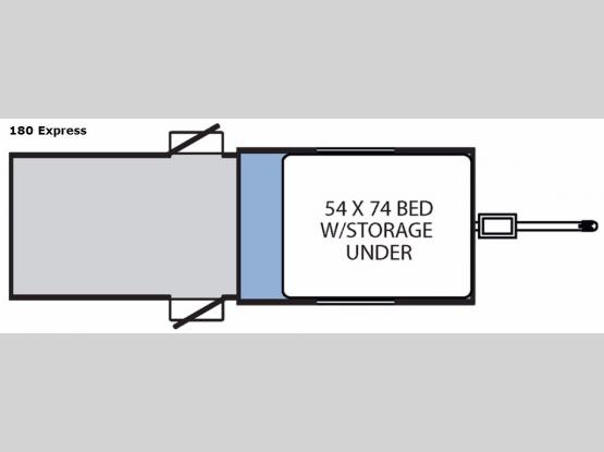 Clipper Camping Trailers 180 Express Floorplan Image