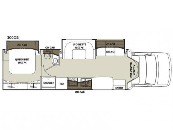 Concord 300DS Chevy Floorplan Image