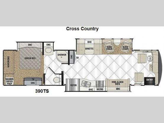 Sportscoach Cross Country RD 390TS Floorplan Image