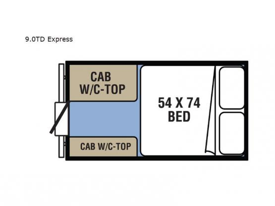 Clipper Camping Trailers 9.0TD Express Floorplan Image