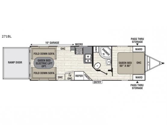 Freedom Express Blast 271BL Floorplan Image