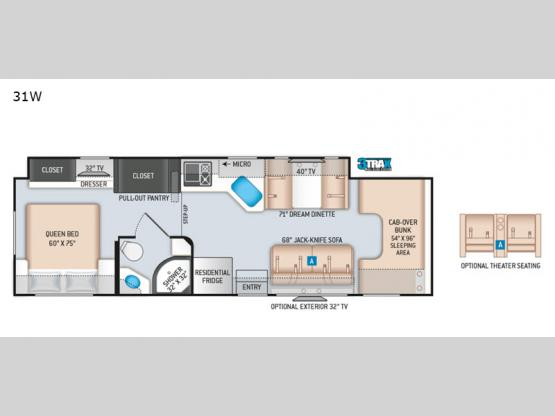 Chateau 31W Floorplan Image