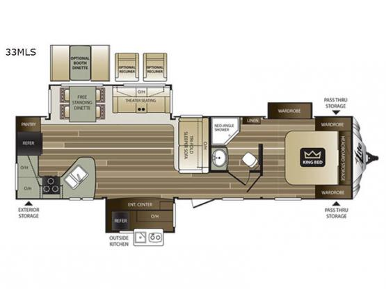 Cougar X-Lite 33MLS Floorplan Image