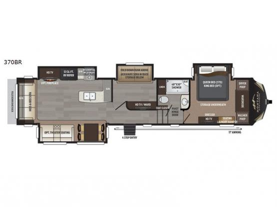 Montana High Country 370BR Floorplan Image