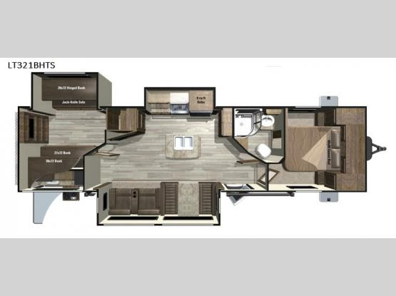 Open Range Light LT321BHTS Floorplan Image