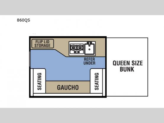 Clipper Camping Trailers 860QS Floorplan Image