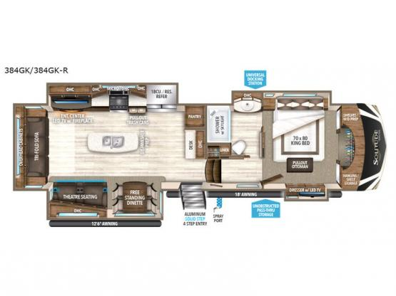 Solitude 384GK Floorplan Image