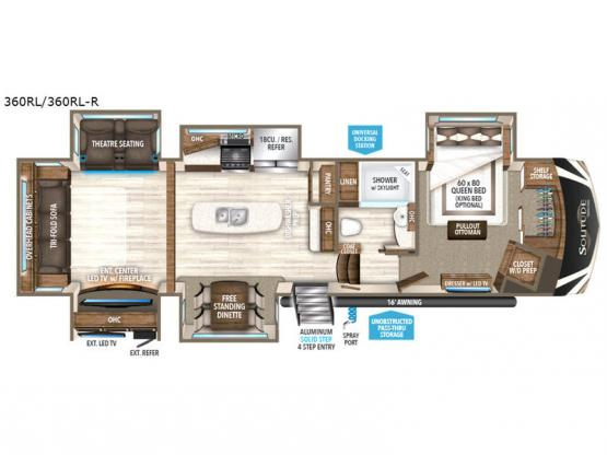 Solitude 360RL R Floorplan Image