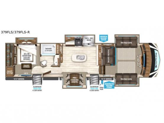 Solitude 379FLS Floorplan Image
