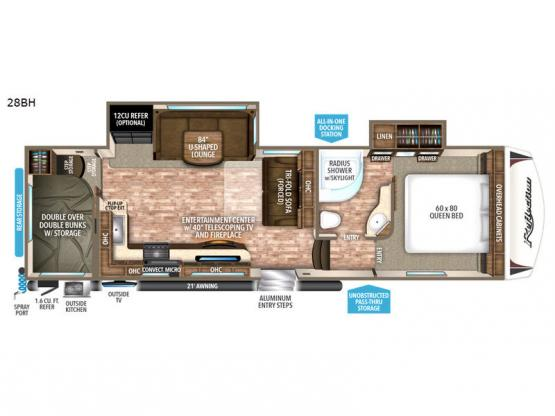 Reflection 28BH Floorplan Image