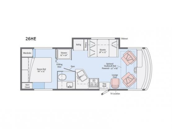 Vista 26HE Floorplan Image