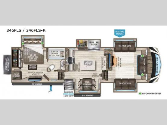 Solitude 346FLS R Floorplan Image