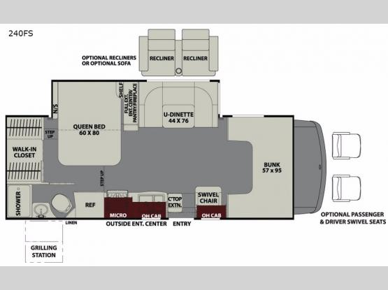 Leprechaun 240FS Ford 450 Floorplan Image