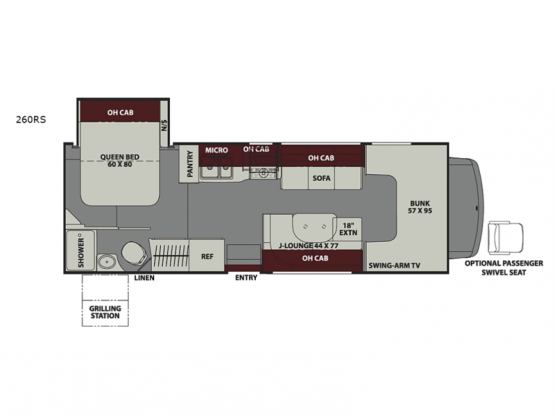 Leprechaun 260RS Ford 350 Floorplan Image