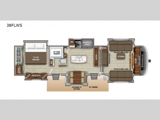 Pinnacle 38FLWS Floorplan Image