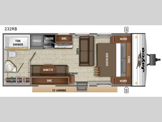 Jay Flight SLX 8 232RB Floorplan Image