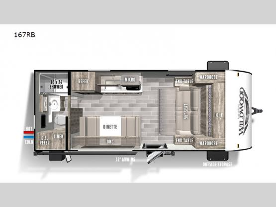 Wildwood FSX 167RB Floorplan Image