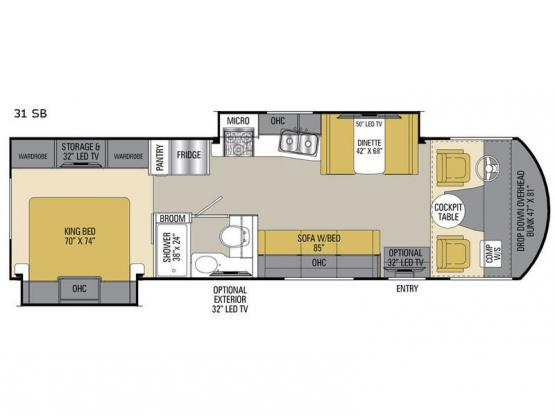 Pursuit 31SB Floorplan Image