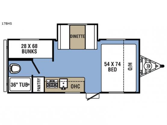 Clipper Ultra-Lite 17BHS Floorplan Image