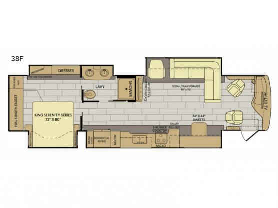 Pace Arrow LXE 38F Floorplan Image
