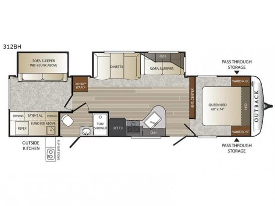 Outback 312BH Floorplan Image
