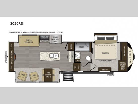 Alpine 3020RE Floorplan Image