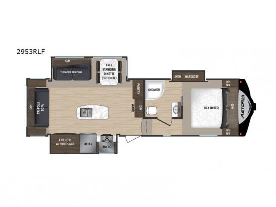Astoria 2953RLF Floorplan Image