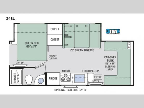 Four Winds Sprinter 24BL Floorplan Image
