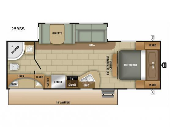 Launch Ultra Lite 25RBS Floorplan Image