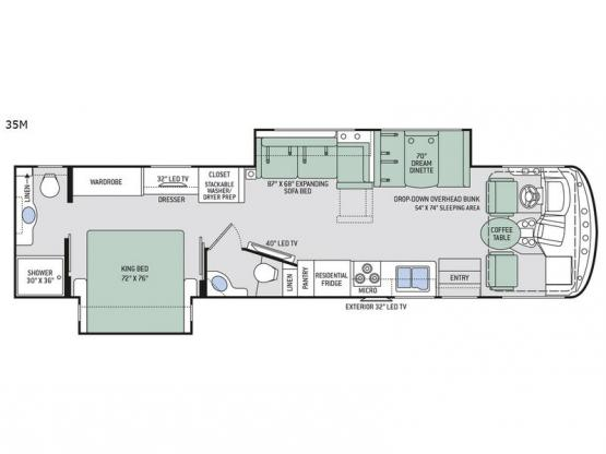 Hurricane 35M Floorplan Image