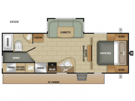 Launch Outfitter 24ODK Floorplan Image