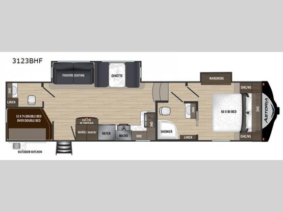 Astoria 3123BHF Floorplan Image