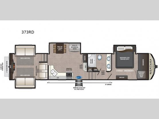Montana High Country 373RD Floorplan Image