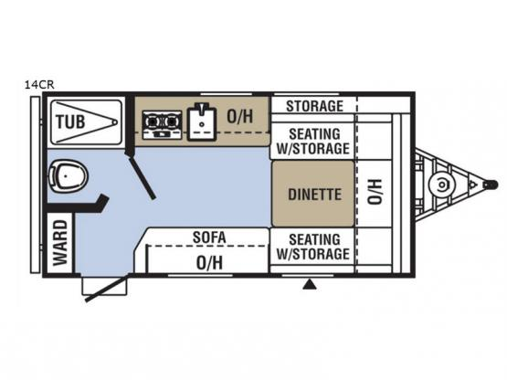 Clipper Cadet 14CR Floorplan Image