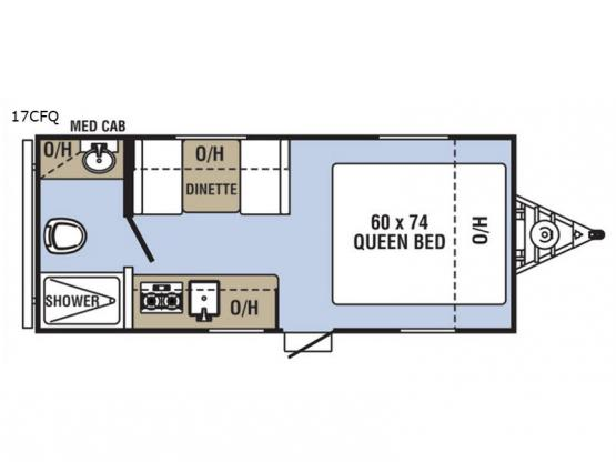 Clipper Cadet 17CFQ Floorplan Image