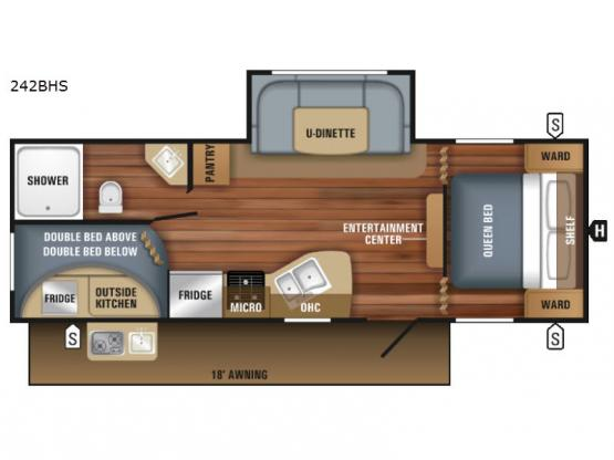 Jay Flight SLX 242BHS Floorplan Image