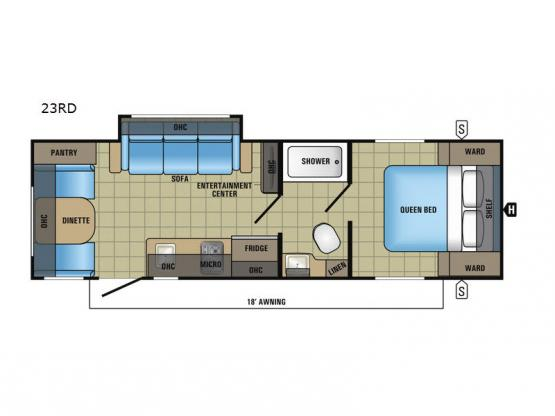 Jay Feather 7 23RD Floorplan Image