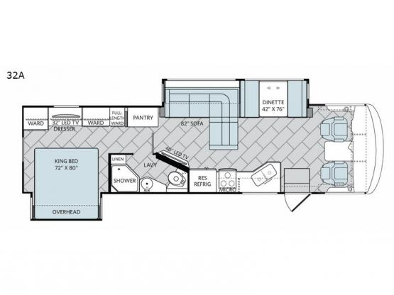 Vacationer XE 32A Floorplan Image