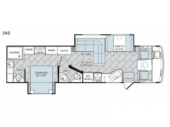 Vacationer XE 34S Floorplan Image