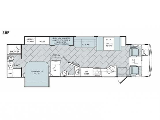 Vacationer XE 36F Floorplan Image