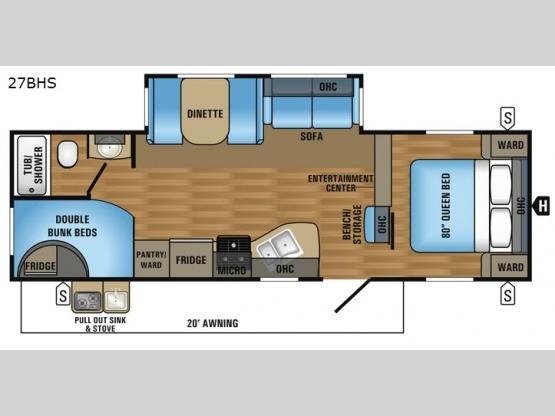 Jay Flight 27BHS Floorplan Image