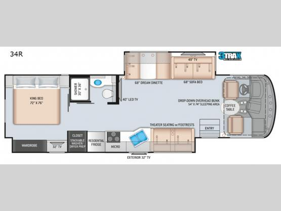 Windsport 34R Floorplan Image