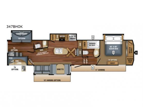 Eagle 347BHOK Floorplan Image