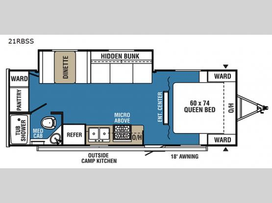 Clipper Ultra-Lite 21RBSS Floorplan Image