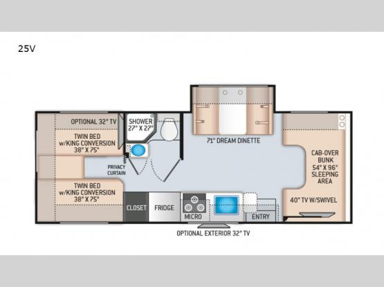 Four Winds 25V Chevy Floorplan Image